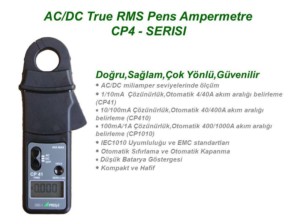 AC/DC True RMS Pens Ampermetre