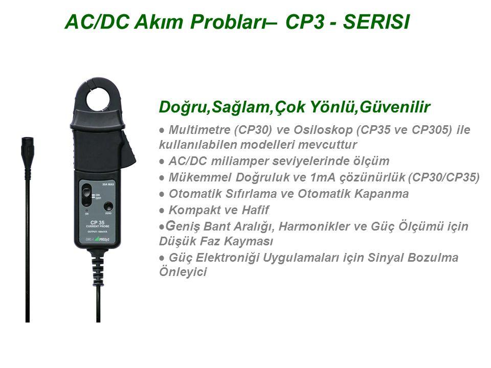 AC/DC Akım Probları– CP3 - SERISI