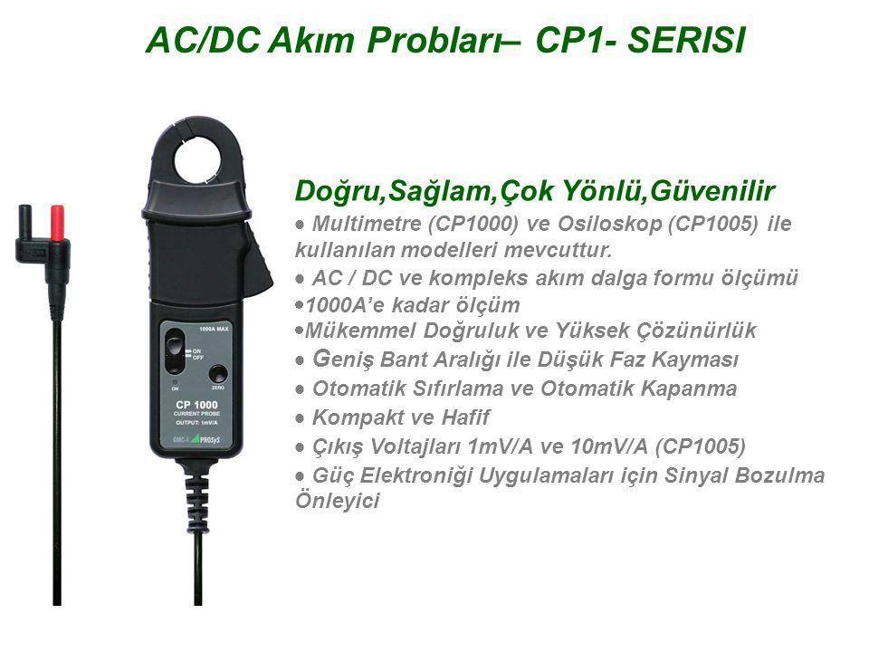 AC/DC Akım Probları– CP1- SERISI