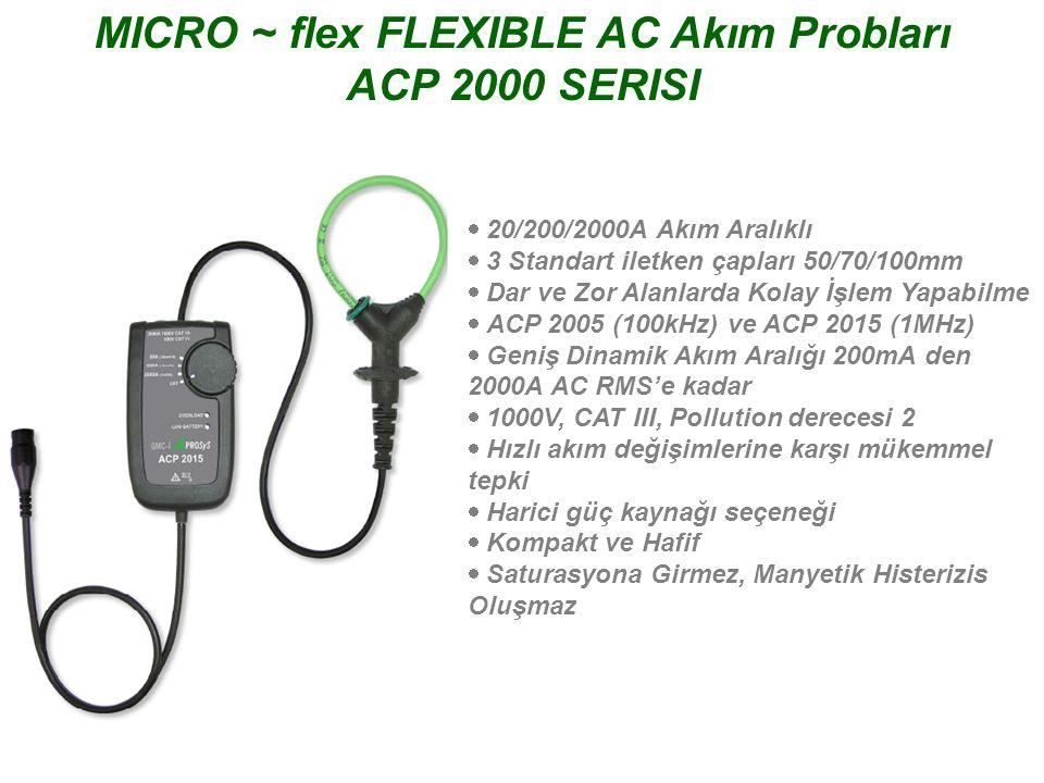 MICRO ~ flex FLEXIBLE AC Akım Probları