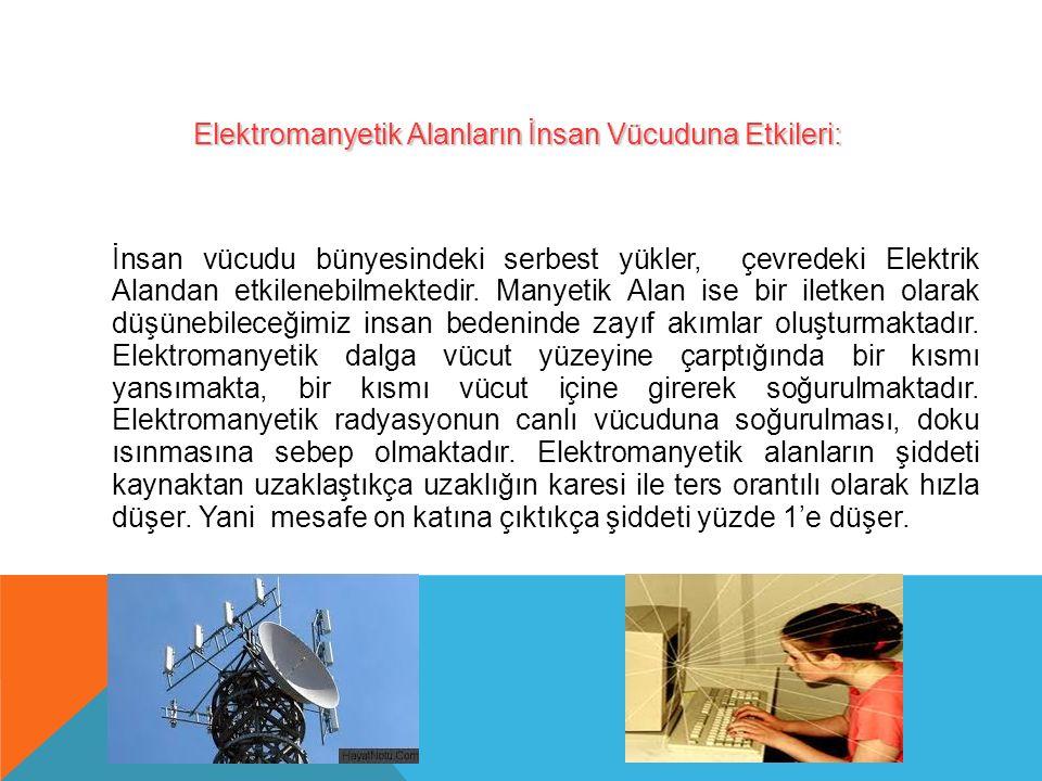 Elektromanyetik Alanların İnsan Vücuduna Etkileri: