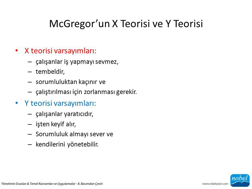 McGregor'un X Teorisi ve Y Teorisi