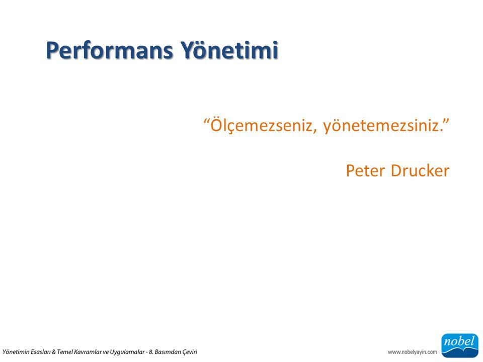 Performans Yönetimi Ölçemezseniz, yönetemezsiniz. Peter Drucker