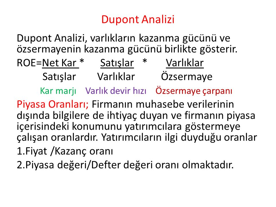 Dupont Analizi