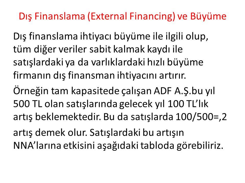 Dış Finanslama (External Financing) ve Büyüme