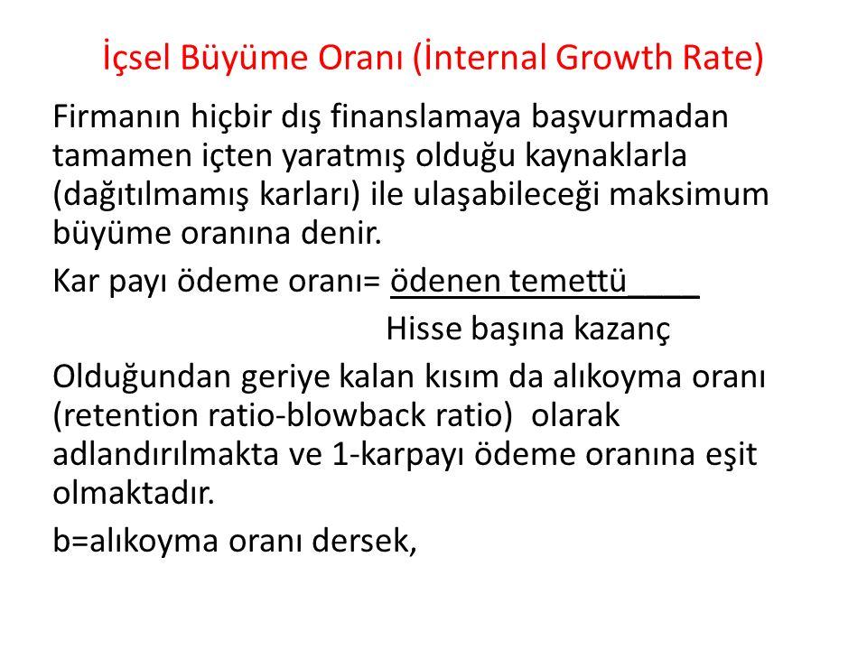 İçsel Büyüme Oranı (İnternal Growth Rate)