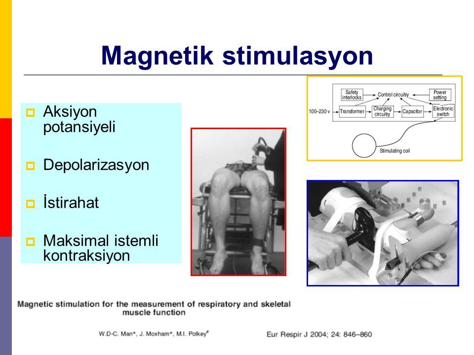 Magnetik stimulasyon Aksiyon potansiyeli Depolarizasyon İstirahat