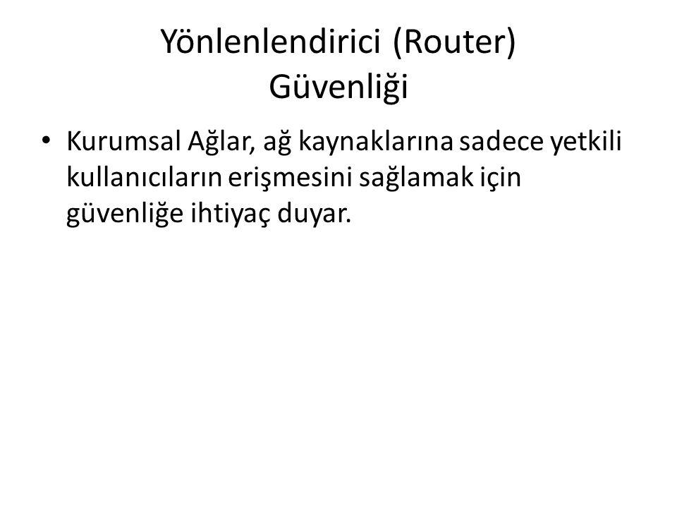 Yönlenlendirici (Router) Güvenliği