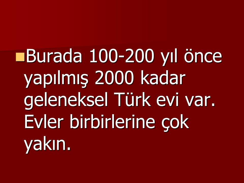 Burada 100-200 yıl önce yapılmış 2000 kadar geleneksel Türk evi var