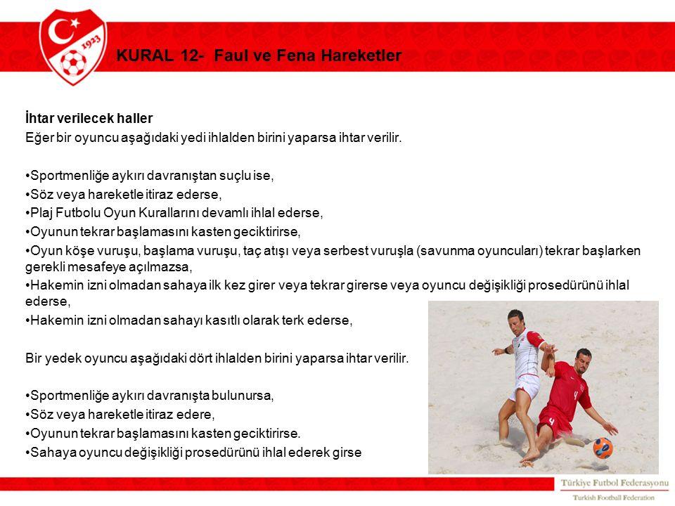 KURAL 12- Faul ve Fena Hareketler