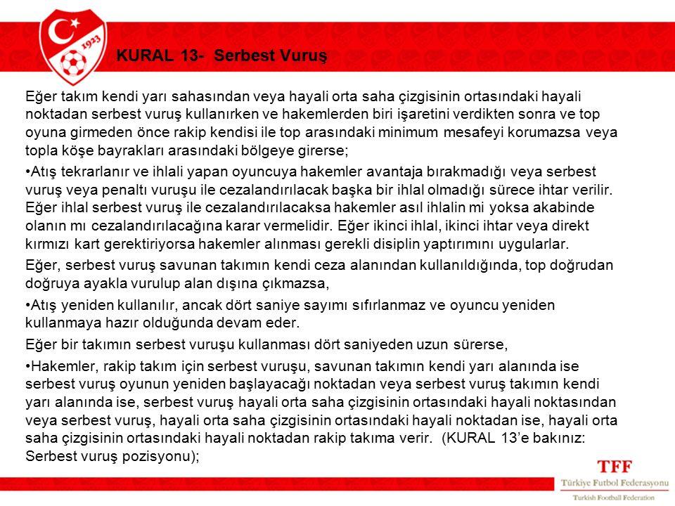 KURAL 13- Serbest Vuruş