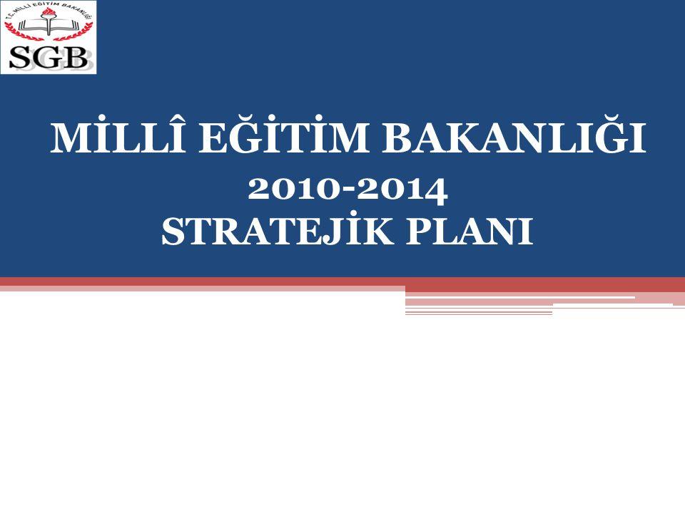 MİLLÎ EĞİTİM BAKANLIĞI 2010-2014 STRATEJİK PLANI