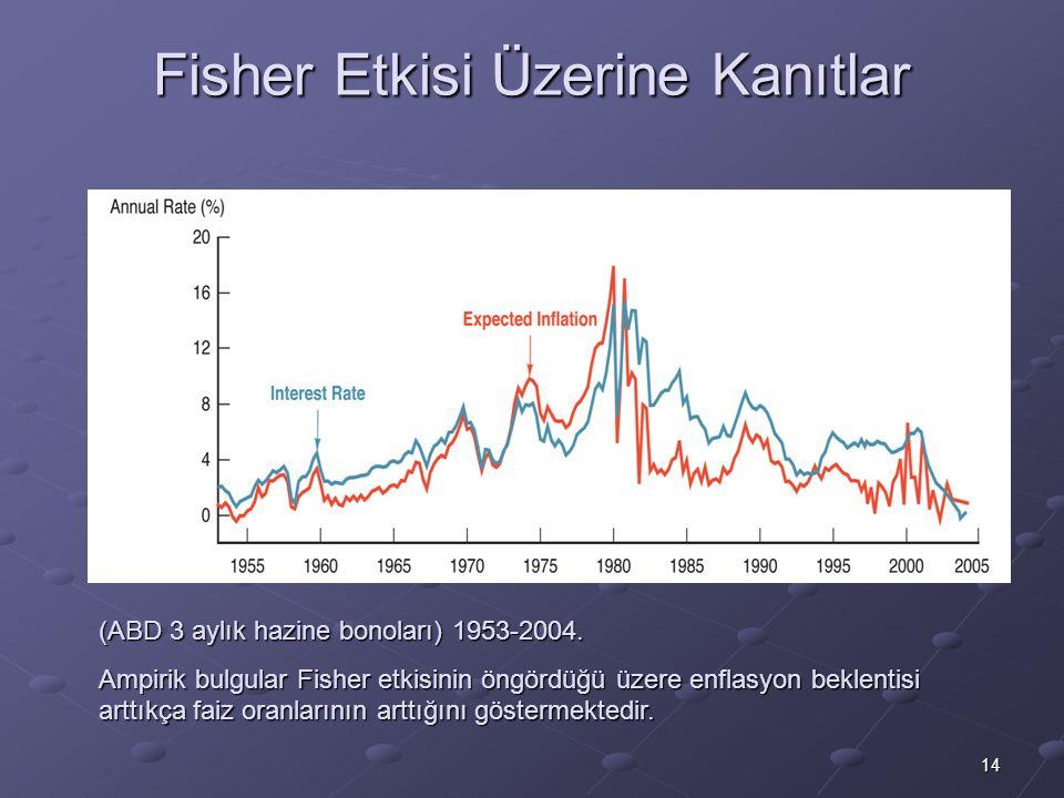 Fisher Etkisi Üzerine Kanıtlar
