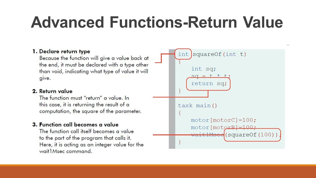 Advanced Functions-Return Value