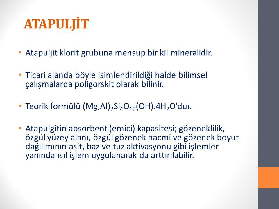 ATAPULJİT Atapuljit klorit grubuna mensup bir kil mineralidir.