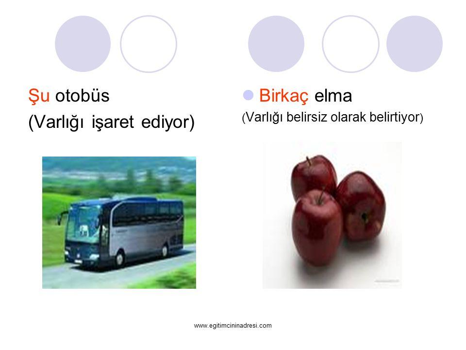 (Varlığı işaret ediyor) Birkaç elma