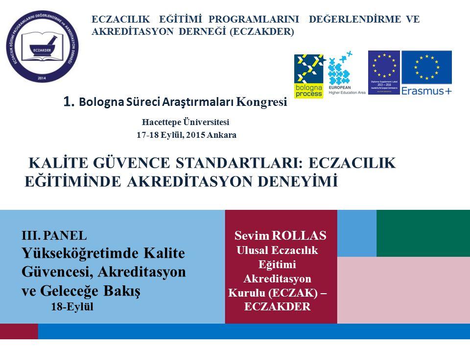 Ulusal Eczacılık Eğitimi Akreditasyon Kurulu (ECZAK) –