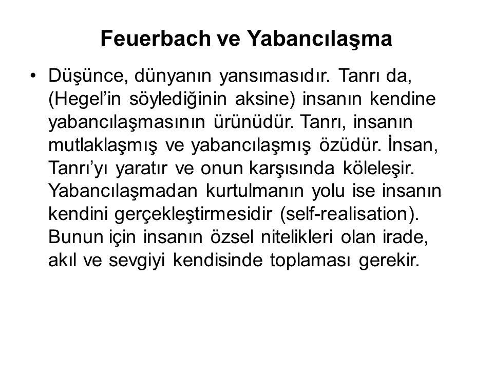 Feuerbach ve Yabancılaşma
