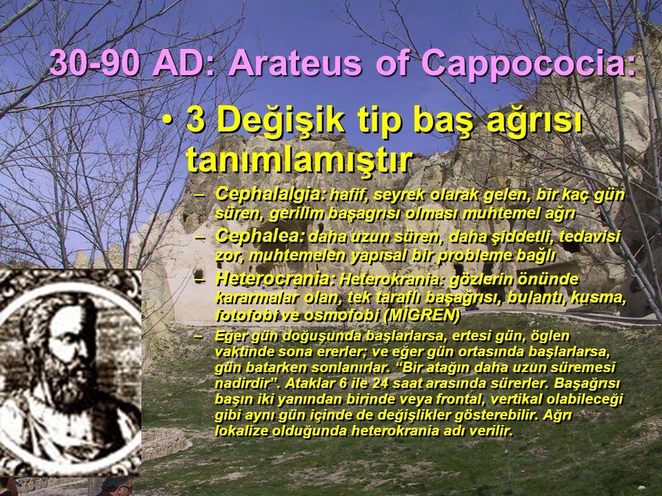 30-90 AD: Arateus of Cappococia: