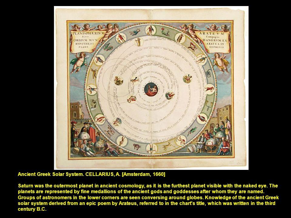 Ancient Greek Solar System. CELLARIUS, A