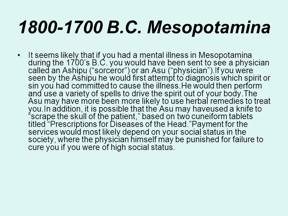 1800-1700 B.C. Mesopotamina