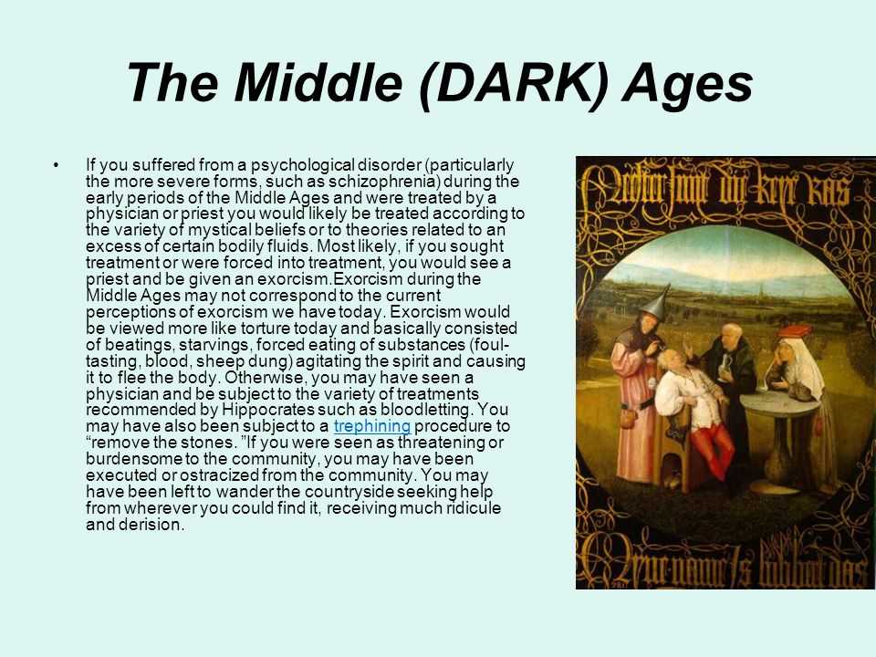 The Middle (DARK) Ages