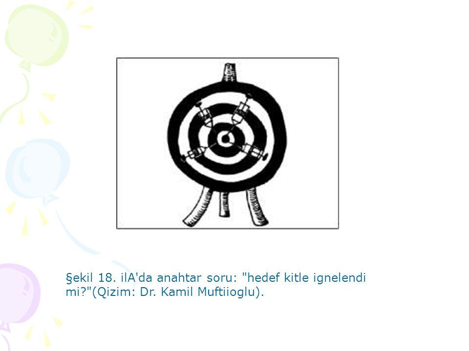 §ekil 18. ilA da anahtar soru: hedef kitle ignelendi mi. (Qizim: Dr