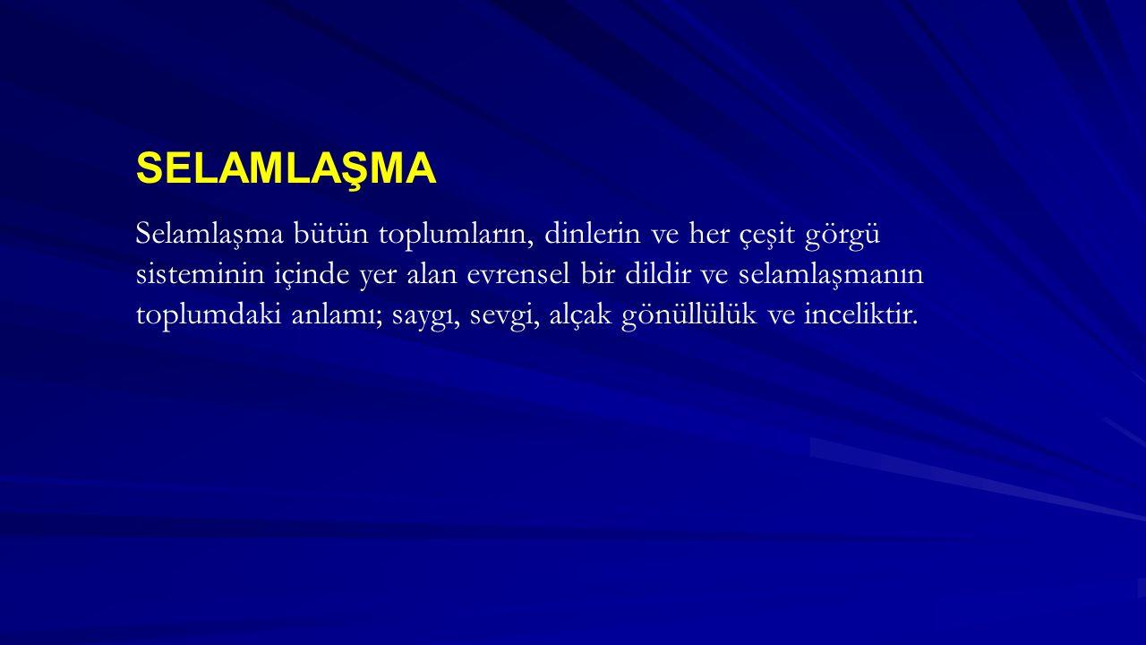 SELAMLAŞMA