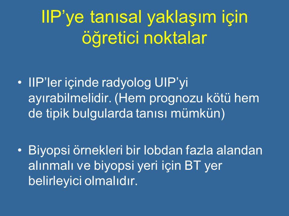 IIP'ye tanısal yaklaşım için öğretici noktalar