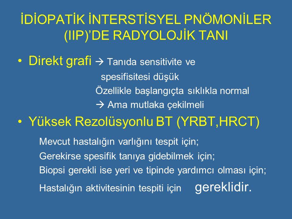 İDİOPATİK İNTERSTİSYEL PNÖMONİLER (IIP)'DE RADYOLOJİK TANI