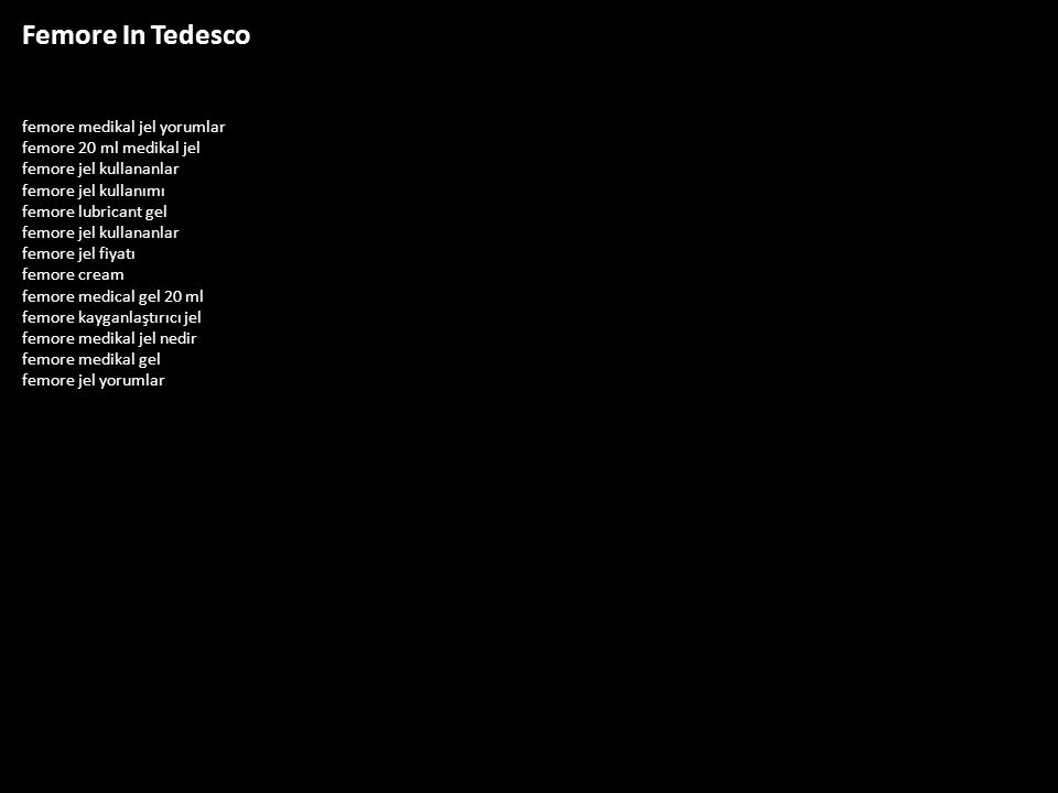 Femore In Tedesco