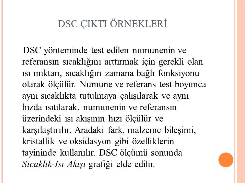 DSC ÇIKTI ÖRNEKLERİ