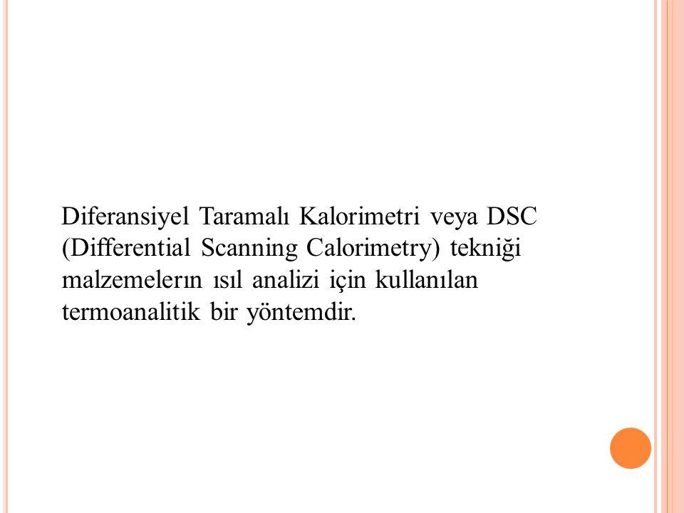 Diferansiyel Taramalı Kalorimetri veya DSC (Differential Scanning Calorimetry) tekniği malzemelerın ısıl analizi için kullanılan termoanalitik bir yöntemdir.
