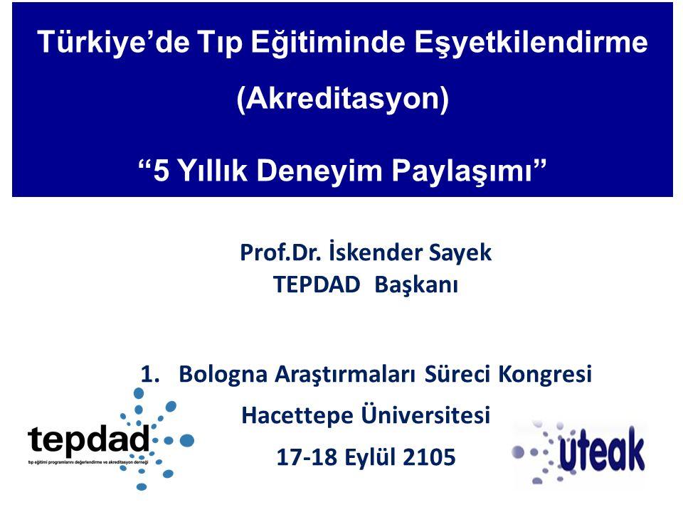 Türkiye'de Tıp Eğitiminde Eşyetkilendirme (Akreditasyon)