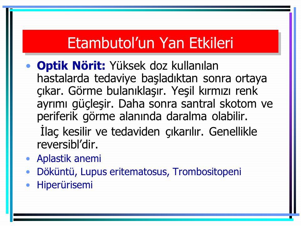 Etambutol'un Yan Etkileri