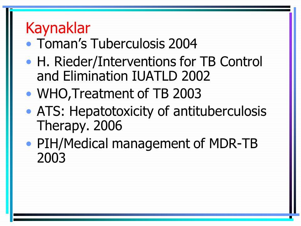 Kaynaklar Toman's Tuberculosis 2004