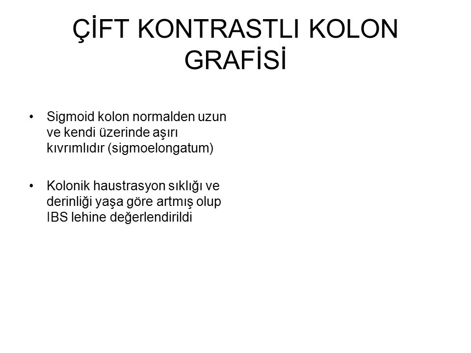 ÇİFT KONTRASTLI KOLON GRAFİSİ