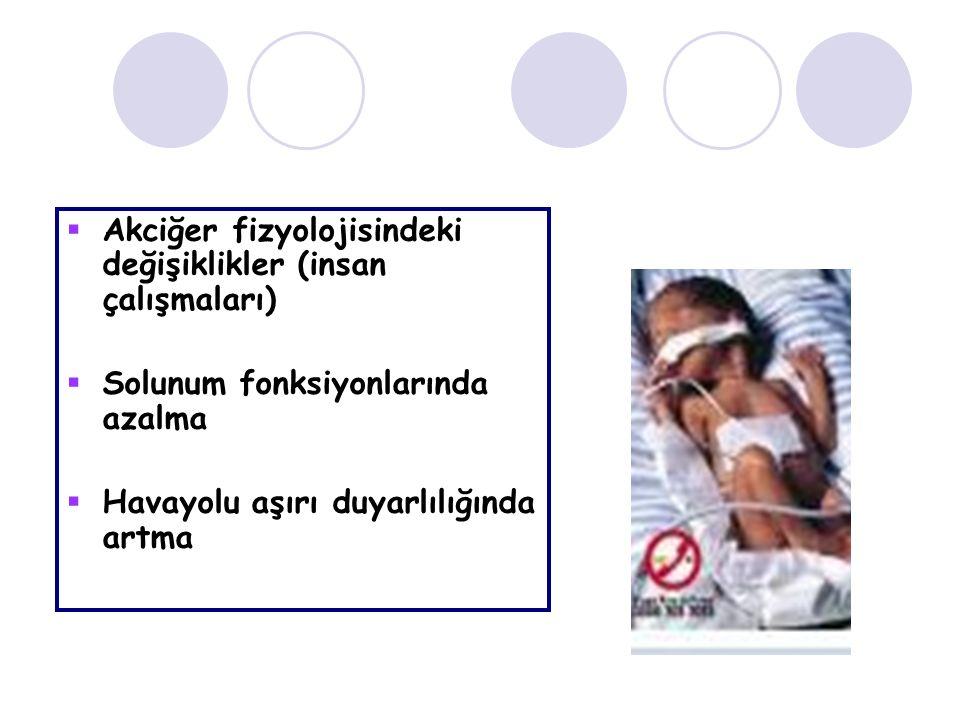 Akciğer fizyolojisindeki değişiklikler (insan çalışmaları)