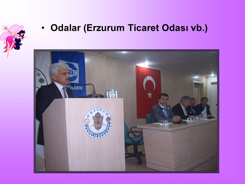 Odalar (Erzurum Ticaret Odası vb.)
