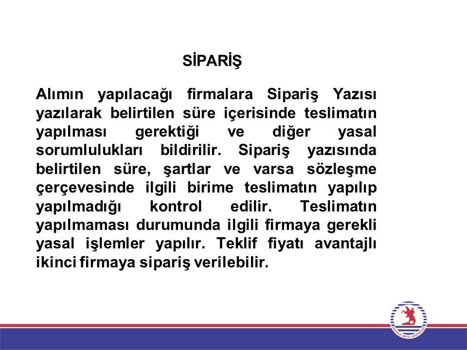 SİPARİŞ
