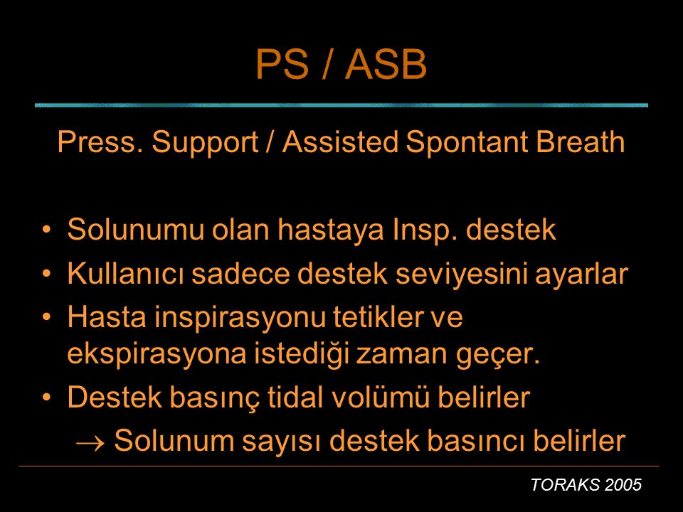 Press. Support / Assisted Spontant Breath