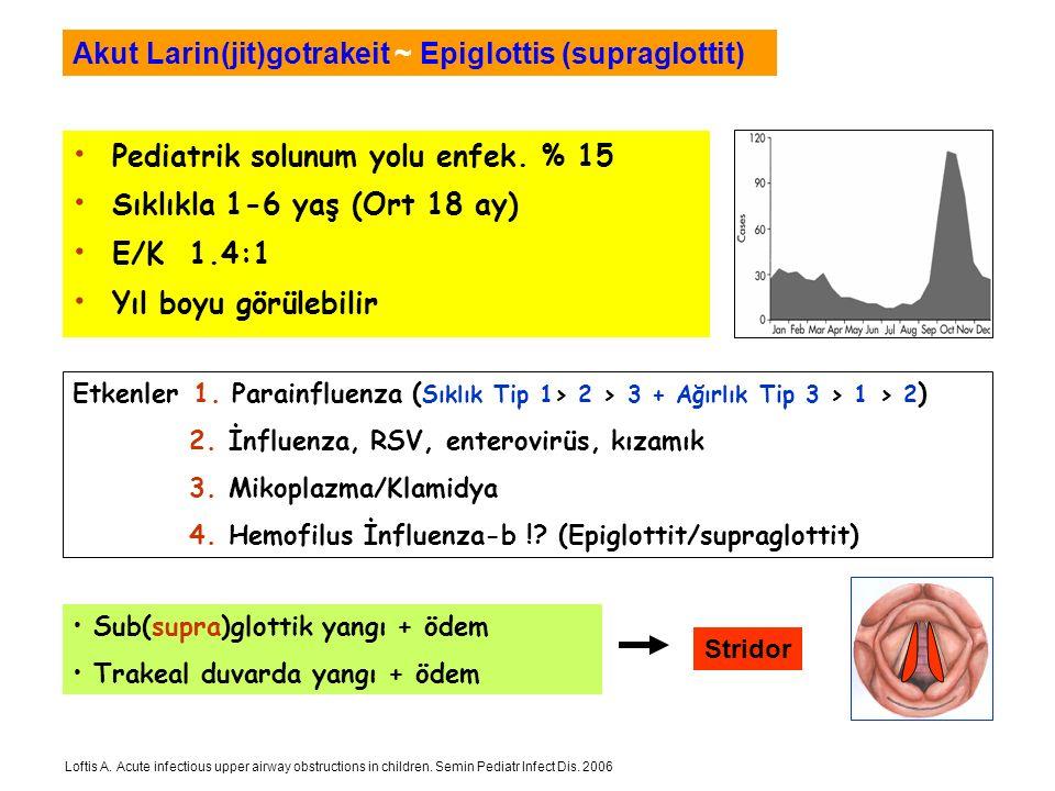 Akut Larin(jit)gotrakeit ~ Epiglottis (supraglottit)