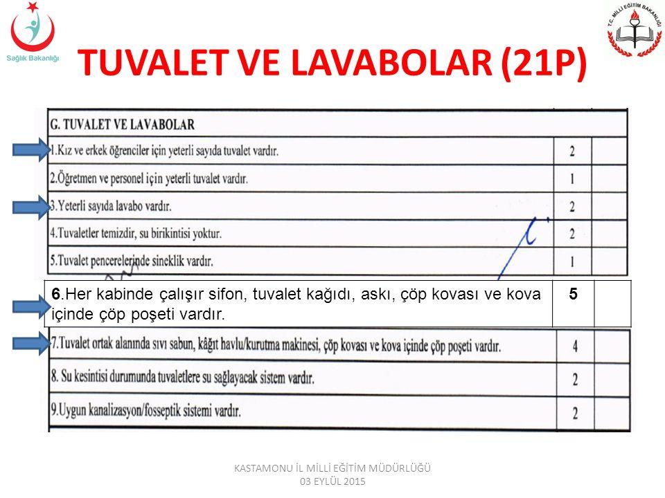 TUVALET VE LAVABOLAR (21P)