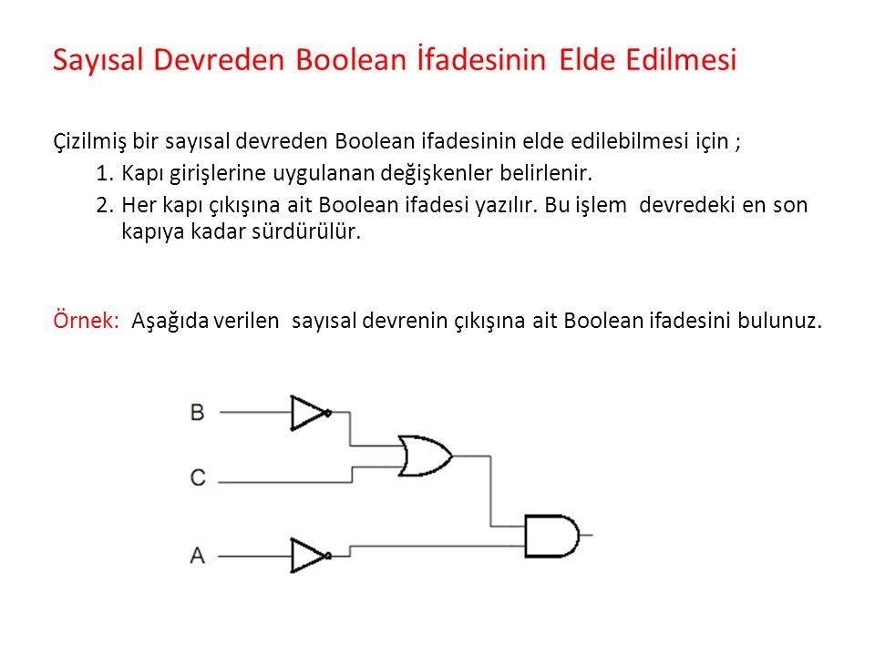 Sayısal Devreden Boolean İfadesinin Elde Edilmesi