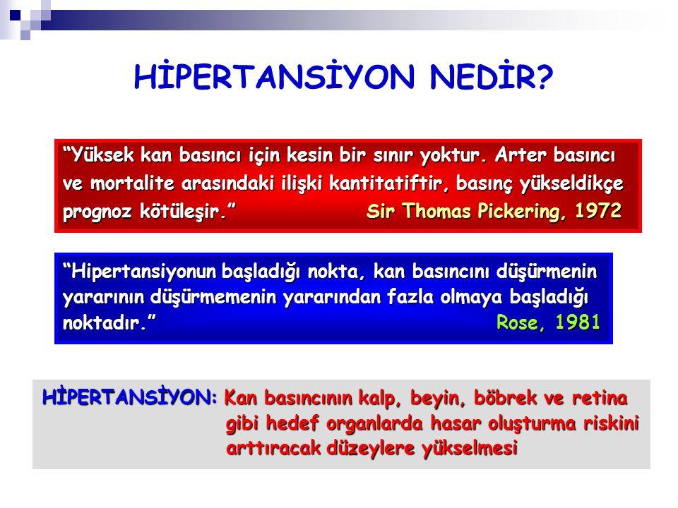 HİPERTANSİYON NEDİR Yüksek kan basıncı için kesin bir sınır yoktur. Arter basıncı.