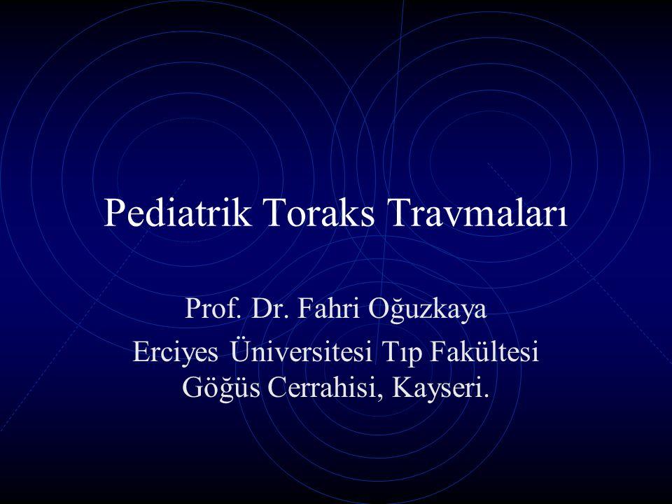 Pediatrik Toraks Travmaları