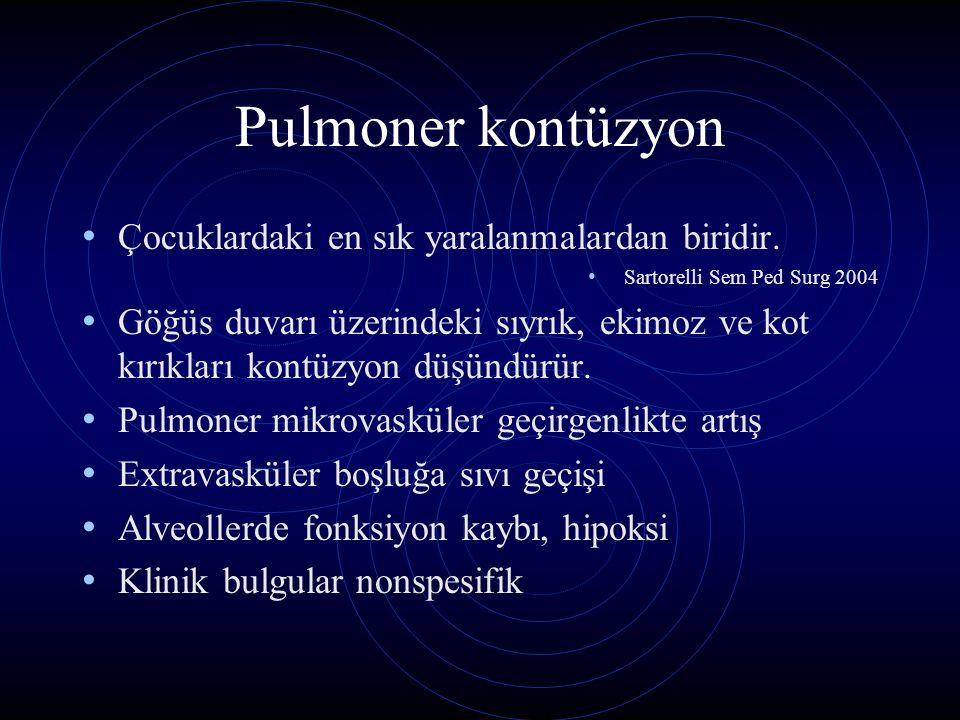 Pulmoner kontüzyon Çocuklardaki en sık yaralanmalardan biridir.