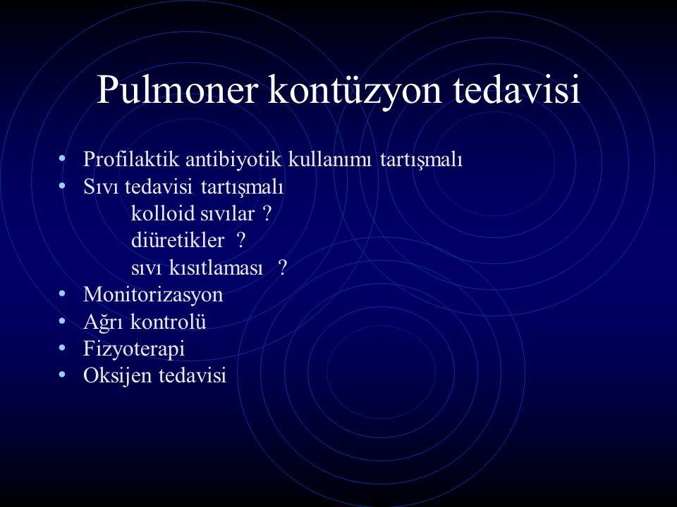 Pulmoner kontüzyon tedavisi
