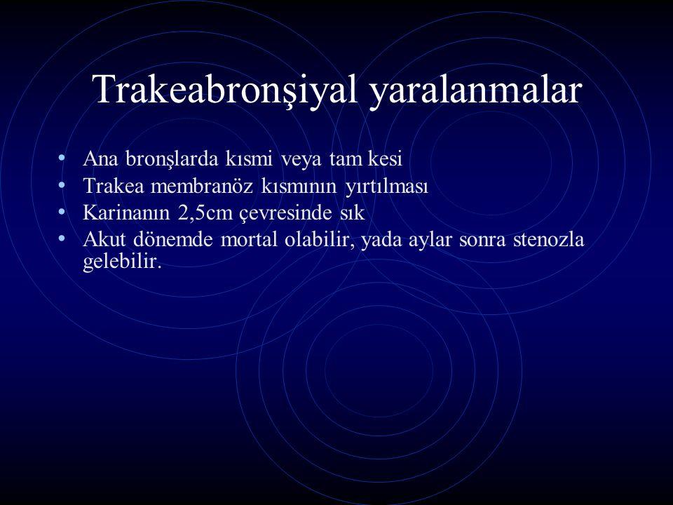 Trakeabronşiyal yaralanmalar