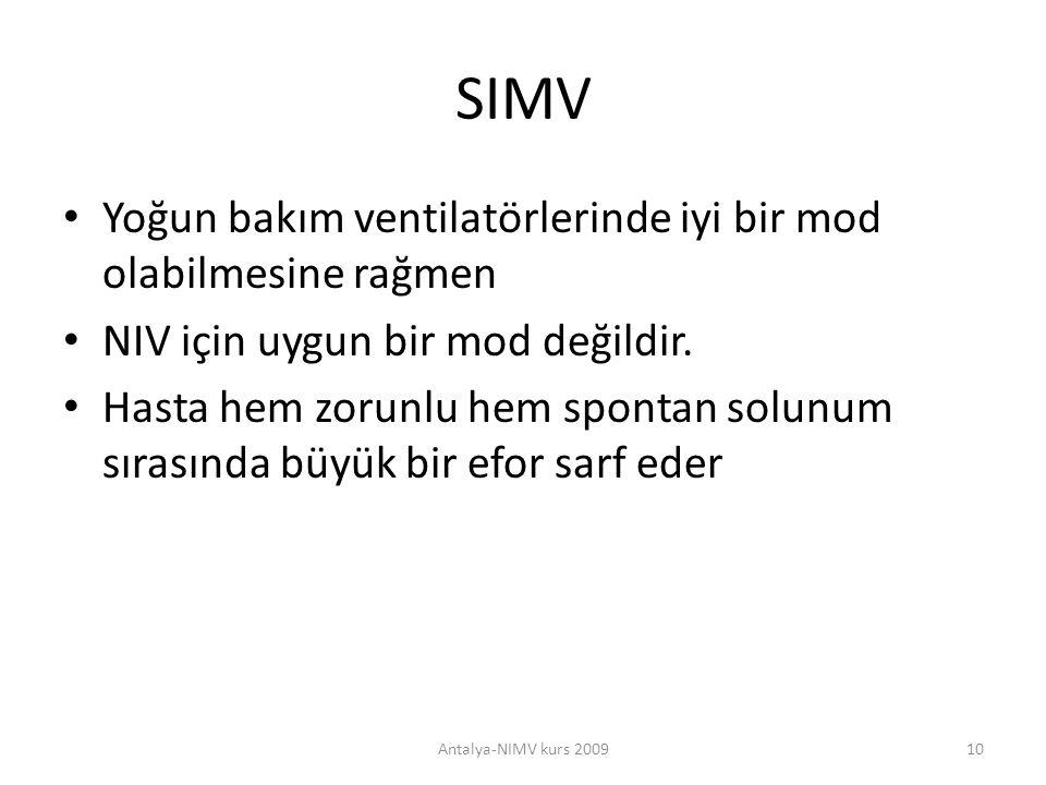 SIMV Yoğun bakım ventilatörlerinde iyi bir mod olabilmesine rağmen